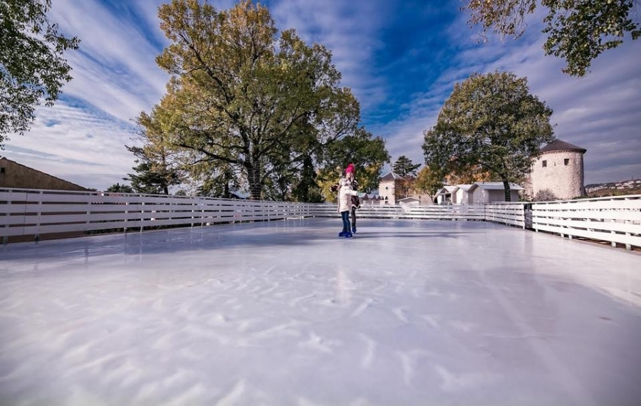 Rent or sale of mobile and fixed ice rinks and ice parks